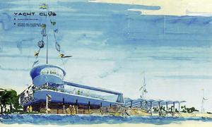 En yacht club ingick i planen för hu Borlänge och Falun skulle bindas samman.