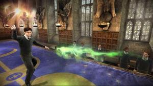 """I det nya spelet """"Harry Potter och Halvblodsprinsen"""" har skaparna EA fått arbeta hårt för att eliminiera de laddningstider som uppstår när man går mellan rum och avdelningar i den gigantiska skolan Hogwarts."""