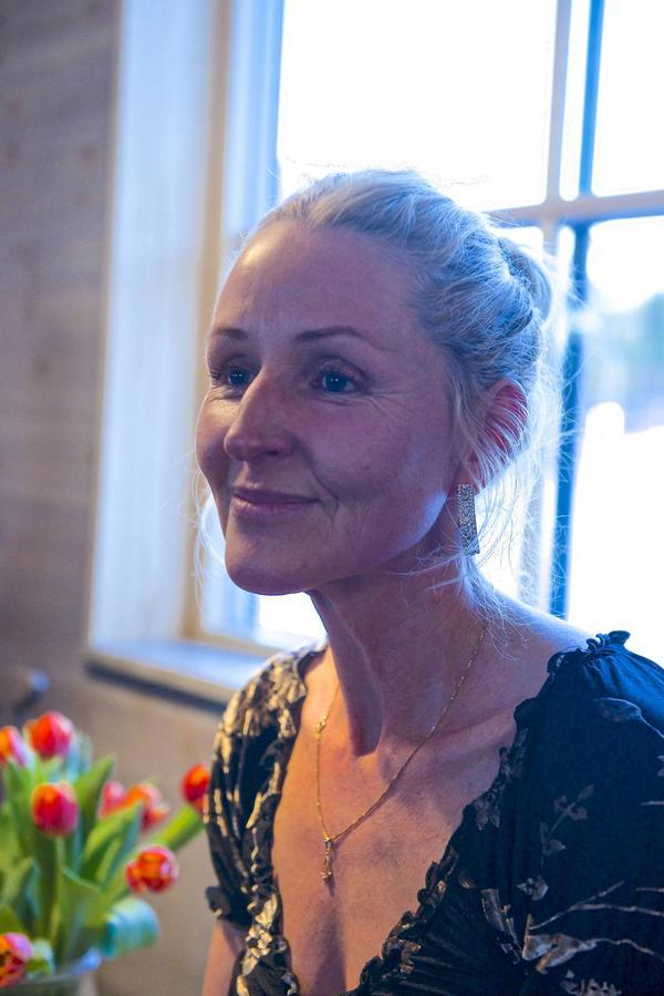 Karin Wikberg en av de nya medlemmarna i Nya Lärkorna.