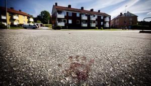 Flera blodspår på platsen vittnar om att mannen skadades.