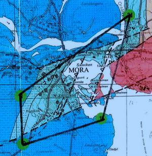 Nu har Igrene fått statens tillstånd att leta efter gas under centrala delar av Mora.Illustration : IGRENE