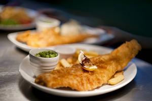 Englands bästa fish and Chips sägs finnas i Whitby vid kusten.   Foto: Reine Hefvelin