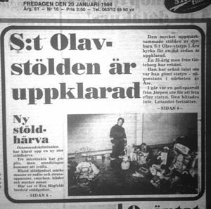 LT:s förstasida 20 januari 1984.