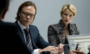 Tuva Novotny spelar Clara, en kvinna som börjar jobba på Nicklas advokatbyrå.Foto: Calle Sjölin