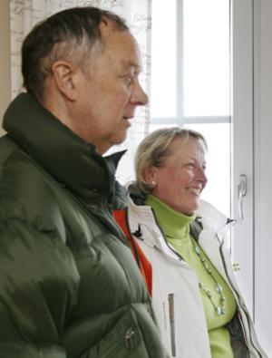 Roger och Inger Bertling uppskattade att lägenheterna behållit sin karaktär.