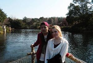 """Maria tillsammans med sin Takao, killen hon dejtade i Tokyo. """"Vi har hållit kontakten sedan dess. Vi ringer och sms:ar. När jag återvänder ska vi träffas igen."""""""