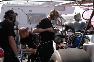 Dan Söderberg, crew-chief i Monika Öbergs Top fuel-team.