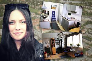 Det är den här typen av lägenhet, en etta med kök som Sara söker. Bildcollage.