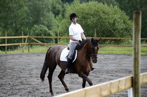 Bra placering. Jonna Niessner på hästen Vitamin blev tvåa i dressyr, som var den tredje deltävlingen i den pågående cupen.