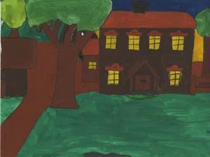 Rengsjö hembygdsgård. Av: Caroline Bergsten, 12 år, Rengsjö skola Rengsjö. 1996.