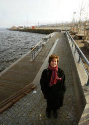 Om ett par år bör det vara full fart på byggandet längs södra kajen, hoppas stadsarkitekt Anita Edlund.