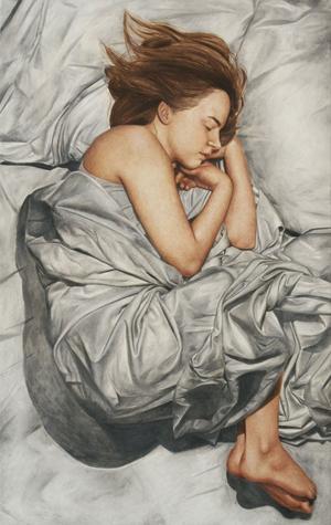 Sovande människor ingår i den serie som visas på Galleri Eklund fram till 22 september.