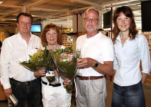 GävleTidningars VD Tomas Grönberg var med och firade av de nya pensionärerna Christina Delby Vad-Schütt och Björn Widegren. I dag tillträder Maria Brander som chefredaktör.