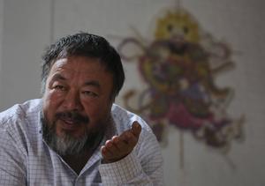 Den världsberömda konstnären Ai Weiwei är intresserad av att skapa ett enormt konstverk på Storsjöns is.