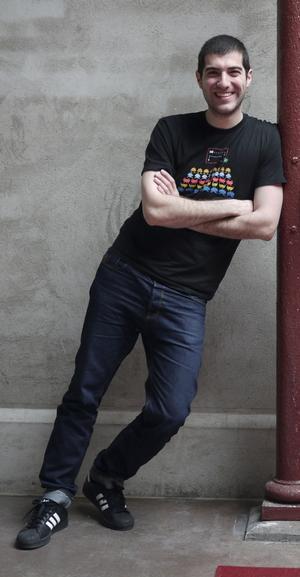 Daniel Kaplan utsågs nyligen av tidningen Develop till en av världens 30 mest lovande spelutvecklare under 30 år.Foto: Thomas Arnroth