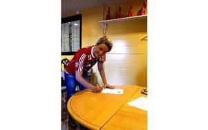 Förra Ornäs-spelaren Petra Larsson signerar ett tvåårskontrakt med Kvarnsveden. Foto: Kristian Bågefeldt/DT