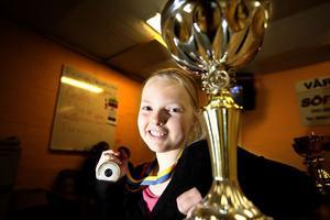 Elsa Jonsson tangerade sitt personliga rekord när hon sköt hem finalen i Svenska ungdomscupen.