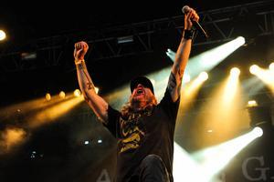 Tompa Lindberg i At The Gates på årets Getaway Rock Festival i Gävle.