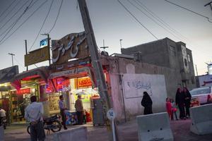 De afganska kvarteren i staden Isfahan i Iran.