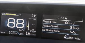 0,29 lit/mil efter två mils körning, riktigt bra!