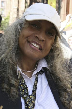 Sheila Evans, bor och guidar i Harlem.