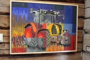 Färgglad traktor av Ulrich Eberling från Tyskland.