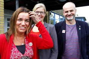 Anna-Caren Sätherberg, Therese Zetterman och Björn Sandal är övertygade om att de svenska skolorna igen att kunna mäta sig kvalitetsmässigt med skolorna i vilka länder som helst om eleverna och lärarna får det stöd som S vill ge.