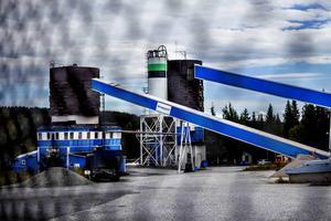 Betongstationen vid Lillänge i Östersund.
