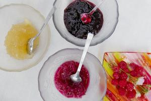 Fyra dagar i veckan kokar, syltar och saftar Gertrud och Flavio. Resultatet kan ljuvlig bli lavendel-, rosenblads och svartvinbärsmarmelad.
