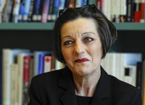 """""""Jag gläder mig kanske diskretare"""".                              Herta Müller är utmattad efter uppståndelsen med Nobelpriset och utgivningen av romanen """"Andningsgunga"""". Men hon ser fram emot att komma till Stockholm."""