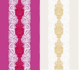 Två färgvarianter av mönstret ananas. Design: Mailja Isola.