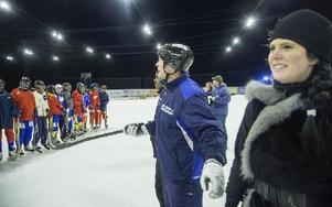 Somaliska landslaget, tränaren Per Fosshaug och i förgrunden Cia Embretsen. Foto: Mikael Forslund