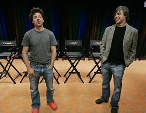 GRUNDARE. Sergey Brin och Larry Page födde nätjätten Google.