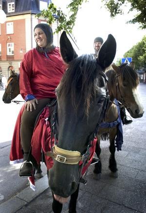 Dragplåster. SM-mästarna Sankt Nikolai riddare är det största dragplåstret under Falun Då:s första dag. Idag är det Riddarspel vid Gruvplatsen mellan klockan 15.00 och 18.00.