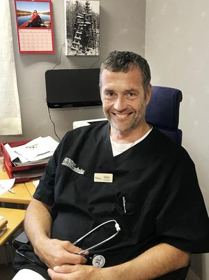 Jan Boberg, distriktsläkare och vd för Nya Närvården i Hoting är smickrad över gensvaret från patienterna.