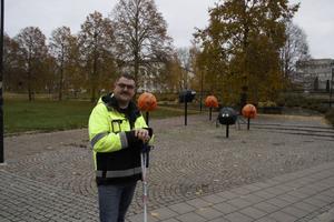 Olle Petterson hoppas att pyntet på Stora gatan ska klara sig från skadegörelse.