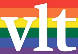 VLT stödjer Västerås Pride med en en specialgjord logga.