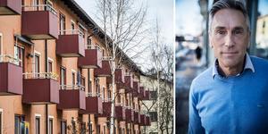 Ralph Blommé, fastighetsmäklare vid Länsförsäkringar Fastighetsförmedling. Foto: TT och Anton Ryvang. Bilden är ett montage.