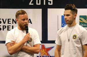 Lagledaren Andreas Sundin och föraren Kim Nilsson ska försöka vända bottentips till SM-slutspel för Masarna.