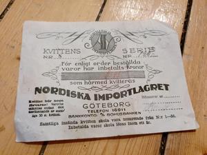 Kvittens. FOTO: Ingela Östberg