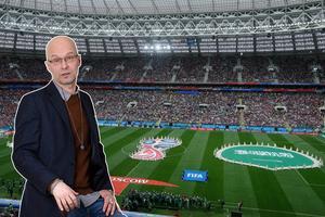 För en månad framöver står planeten nu stilla - anledningen stavas fotbolls - VM som nu har sparkats igång i Ryssland Foto: Montage/TT
