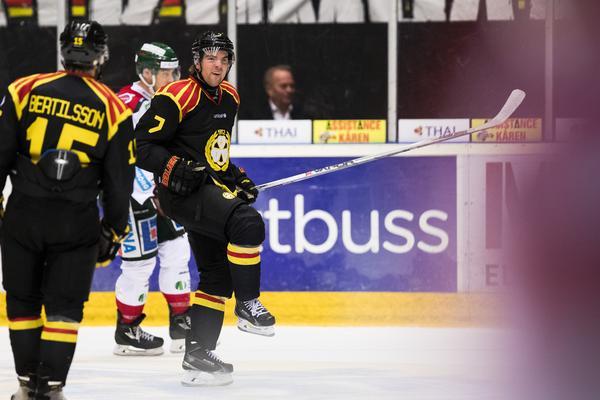 Ponthus Westerholm slog till två gånger om Frölunda i premiären. Efter säsongen skrev han på för just Frölunda tillsammans med sin tvillingbror Pathrik. Bild: Andreas L Eriksson/Bildbyrån