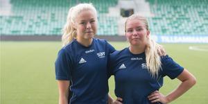 Nyförvärven Maja Göthberg från Kungsbacka och Elin Björklund från Gefle.