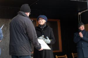 Carina Normansson tilldelades kulturstipendiet.