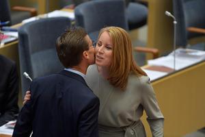 Kan Kristersson och Lööf få Löfven och Lövin att göra upp igen om försvaret?Foto: Jessica Gow/ TT