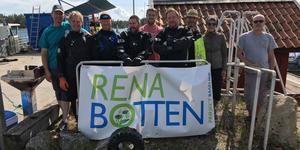 Dykarna på projektet Rena Botten gjorde sitt första besök i Norrtälje under lördagen. Bild: Eriq Agelii