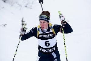 Moras Anna Wikström gick ut som fyra i damklassen men sköt bra och tog sig upp på pallen.