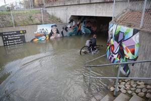Göteborg läggs under vatten - ett allt oftare återkommande scenario om vi inte hejdar den globala uppvärmningen. Bild: Adam Ihse/TT