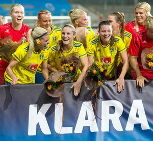 Hanne Gråhns i landslaget 2016. Foto: Thomas Johansson/TT
