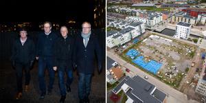 Raimo Pärssinen, Bo Rogberg, Bo Damberg och Jan Karlsson är bara några av de boende på Gävle Strand som känner sig blåsta på garage. Tomten mittemot är fortfarande bara grop och kommunen har inte gjort tillräckligt menar de.